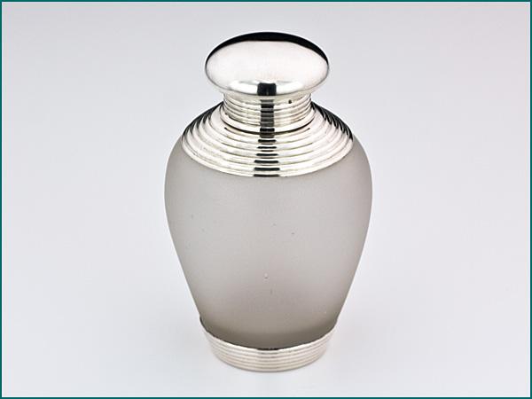 Matglazen theebus met zilveren dop en montuur 1858-1905-0