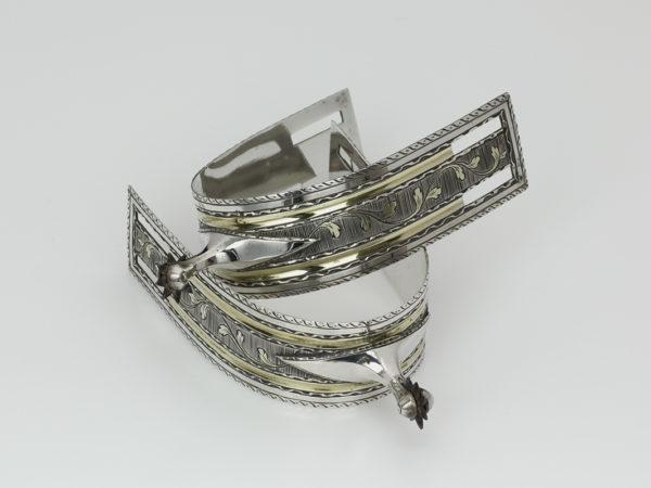 Stel zilveren ruitersporen met gravering 1781 of 1805-0