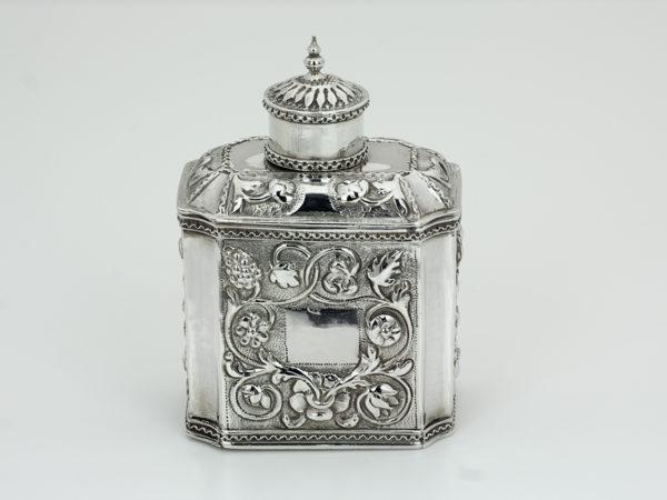 Zilveren theebus uit 1722 (Haarlem)-0