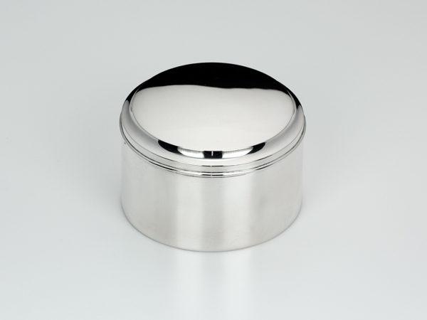 Zilveren bolletjes/snoeptrommel uit 1919-0