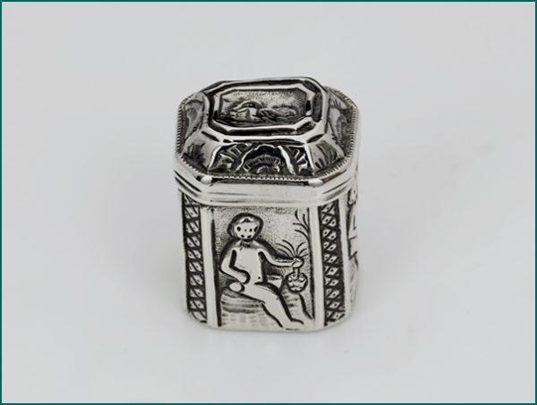 Zilveren loddereindoosje 1799-1806 (Dokkum)-0