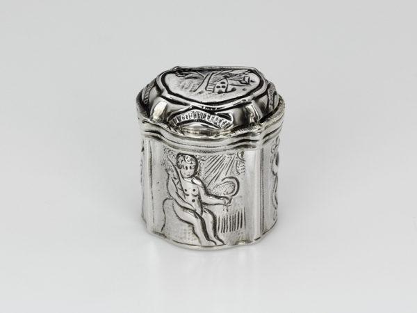 Zilveren loddereindoosje ca. 1775 (Friesland)-0