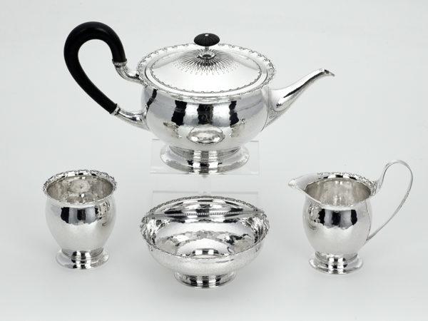 4 delig zilveren servies-0