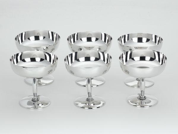 6 zilveren ijscoupes 1906-1924-0