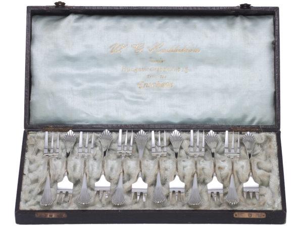 Zilveren gebaksvorken waaier